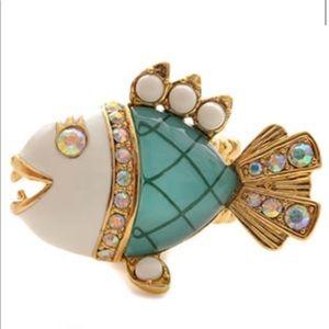Betsey Johnson Fish Ring
